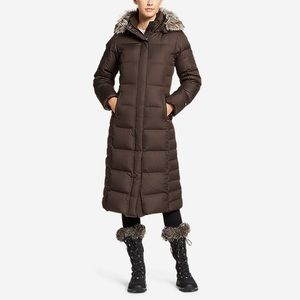 Eddie Bauer Lodge Down Puffer Coat Cocoa XS